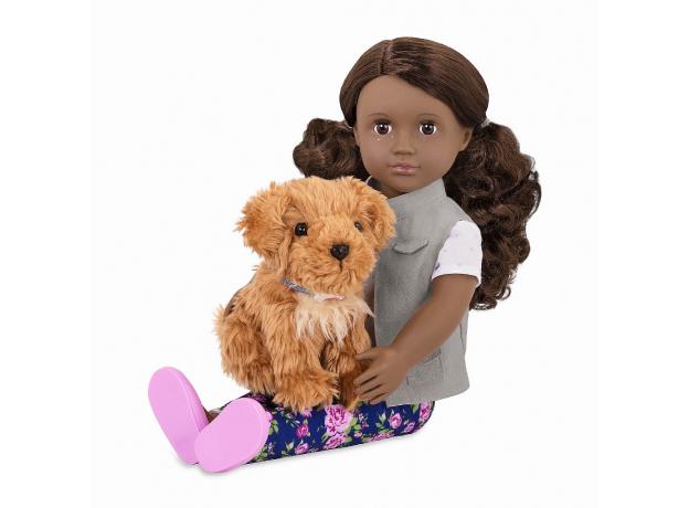 Кукла мулатка 46 см Our Generation Малия с собакой, фото , изображение 2